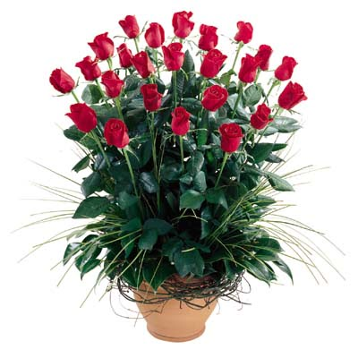 Bursa inegöl çiçek servisi , çiçekçi adresleri  10 adet kirmizi gül cam yada mika vazo