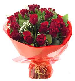 Bursa osmangazi online çiçekçi , çiçek siparişi  11 adet kimizi gülün ihtisami buket modeli