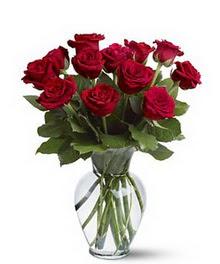 çiçek siparişi Bursa karacabey çiçek yolla  cam yada mika vazoda 10 kirmizi gül