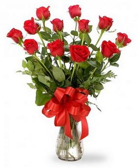 Bursada çiçekçi osmangazi çiçek , çiçekçi , çiçekçilik  12 adet kırmızı güllerden vazo tanzimi