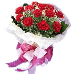 Bursaya çiçek yolla orhangazi çiçek satışı  11 adet kırmızı güllerden buket modeli