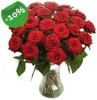 Vazo içerisinde 25 adet kırmızı gül  çiçekçiler Bursa online çiçek gönderme sipariş