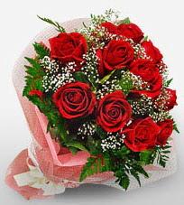 12 adet kırmızı güllerden kaliteli gül  çiçek Bursa yenişehir çiçekçi mağazası