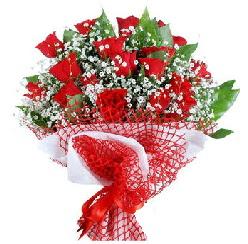 11 kırmızı gülden buket  Bursa çiçek siparişi karacabey 14 şubat sevgililer günü çiçek