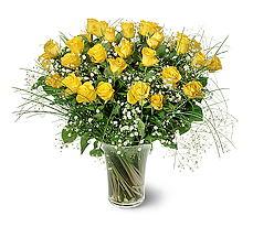 Bursa çiçek gönder nilüfer çiçek siparişi vermek  15 adet sarigül mika yada cam vazoda