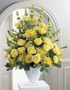 Bursa çiçek gönder nilüfer çiçek siparişi vermek  sari güllerden sebboy tanzim çiçek siparisi