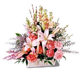 Bursa çiçek gönder nilüfer çiçek siparişi vermek  mevsim çiçekleri sepeti özel tanzim