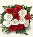 Bursada çiçekçi osmangazi çiçek , çiçekçi , çiçekçilik  10 adet kirmizi beyaz güller - anneler günü için ideal seçimdir -