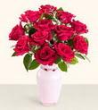 çiçekçi Bursa nilüfer hediye çiçek yolla  10 kirmizi gül cam yada mika vazo tanzim