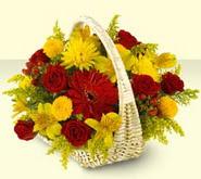 Bursa çiçek siparişi karacabey 14 şubat sevgililer günü çiçek  sepette mevsim çiçekleri