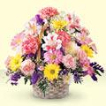 Bursa inegöl çiçek servisi , çiçekçi adresleri  sepet içerisinde gül ve mevsim