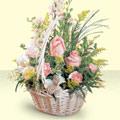 Bursa çiçek siparişi karacabey 14 şubat sevgililer günü çiçek  sepette pembe güller