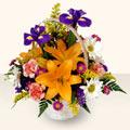 Bursa çiçek siparişi karacabey 14 şubat sevgililer günü çiçek  sepet içinde karisik çiçekler