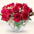 cicek Bursa iznik çiçek online çiçek siparişi  mika yada cam içerisinde 10 gül - sevenler için ideal seçim -