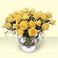 Bursa çiçekçi osman gazi çiçek gönderme sitemiz güvenlidir  11 adet sari gül cam yada mika vazo içinde
