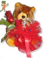 oyuncak ayi ve gül tanzim  çiçek yolla Bursa orhaneli çiçekçiler