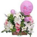 balon ve çiçeklerle tanzim  Bursa osmangazi internetten çiçek satışı