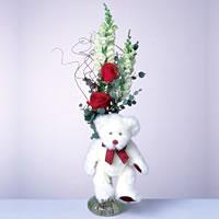 2 adet gül ve panda özel  Bursa orhangazi internetten çiçek siparişi