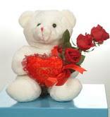3 adetgül ve oyuncak   Bursa çiçek satışı kestel uluslararası çiçek gönderme