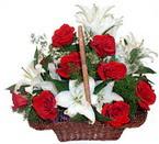 sepette gül ve kazablankalar   Bursa orhangazi internetten çiçek siparişi