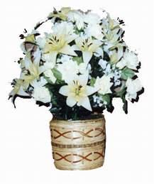 yapay karisik çiçek sepeti   cicekci Bursa inegöl çiçek mağazası , çiçekçi adresleri