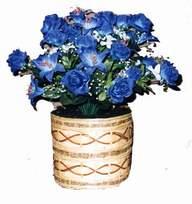 yapay mavi çiçek sepeti  Bursa çiçek gönderimi nilüfer cicekciler , cicek siparisi