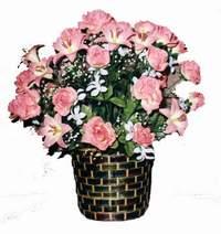 yapay karisik çiçek sepeti  cicek Bursa iznik çiçek online çiçek siparişi
