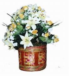 yapay karisik çiçek sepeti   Bursa çiçek gönderimi nilüfer cicekciler , cicek siparisi