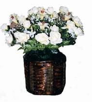 yapay karisik çiçek sepeti   çiçekçiler Bursa online çiçek gönderme sipariş