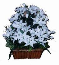 yapay karisik çiçek sepeti   Bursa ya çiçek yolla mudanya cicek , cicekci