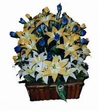 yapay karisik çiçek sepeti   Bursa çiçek nilüfer İnternetten çiçek siparişi