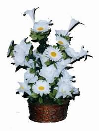 yapay karisik çiçek sepeti  çiçek Bursa yenişehir çiçekçi mağazası