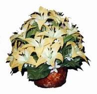 yapay karisik çiçek sepeti   Bursa çiçek gönder nilüfer çiçek siparişi vermek