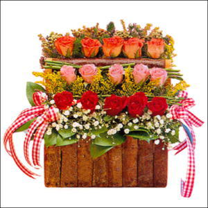sandikta 3 kat güllerden   Bursa çiçek gönderimi nilüfer cicekciler , cicek siparisi