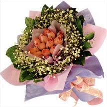 11  adet  gül ve   elyaflar   Bursa orhangazi internetten çiçek siparişi