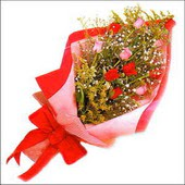 12 adet renkli  gül buketi   Bursa orhangazi internetten çiçek siparişi