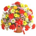 karisik renkli çiçek sepet   çiçek siparişi Bursa karacabey çiçek yolla