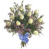 bir düzine beyaz gül buketi   çiçek siparişi Bursa karacabey çiçek yolla