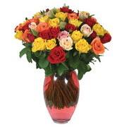 51 adet gül ve kaliteli vazo   çiçek siparişi Bursa karacabey çiçek yolla