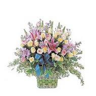sepette kazablanka ve güller   Bursa çiçek nilüfer İnternetten çiçek siparişi