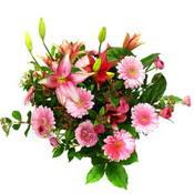 lilyum ve gerbera çiçekleri - çiçek seçimi -  Bursa çiçek nilüfer İnternetten çiçek siparişi