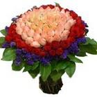 71 adet renkli gül buketi   online Bursa ucuz çiçek gönder