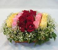 15 adet reprenkli gül sepeti   Bursa çiçek yolla nilüfer çiçek gönderme