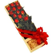 kutuda 12 adet kirmizi gül   Bursa çiçek yolla nilüfer çiçek gönderme