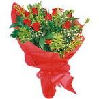 10 adet kirmizi gül buketi  Bursa çiçek yolla nilüfer çiçek gönderme