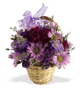 Bursa inegöl çiçek servisi , çiçekçi adresleri  sepet içerisinde krizantem çiçekleri