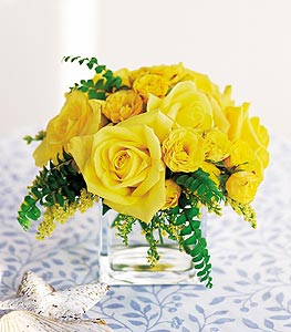 Bursa çiçek gönderimi nilüfer cicekciler , cicek siparisi  cam içerisinde 12 adet sari gül