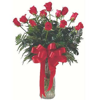 12 adet gül cam içerisinde  Bursa çiçek gönderimi nilüfer cicekciler , cicek siparisi