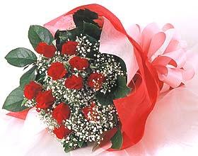 12 adet kirmizi gül buketi  çiçekçiler Bursa online çiçek gönderme sipariş