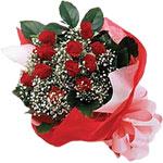 Bursa osmangazi internetten çiçek satışı  KIRMIZI AMBALAJ BUKETINDE 12 ADET GÜL